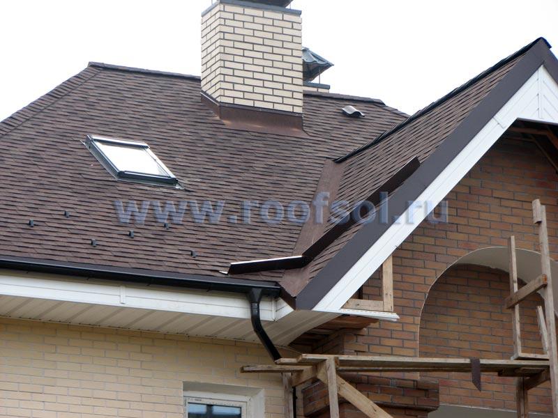 Крыши из гибкой черепицы фото